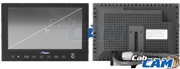 Cabcam U2122 Screens  7 U0026quot  Wired Quad Screen